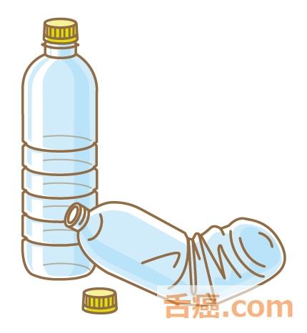 肝臓の大きさと同じくらいのペットボトル